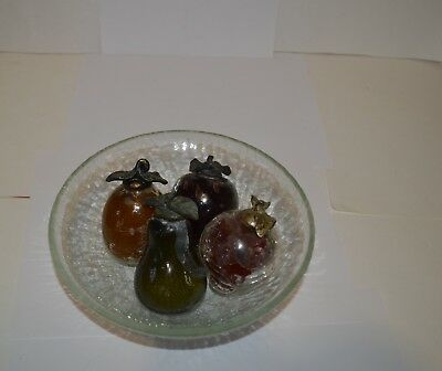 Vintage Crackle Glass Fruit & Bowl  • 21.05£
