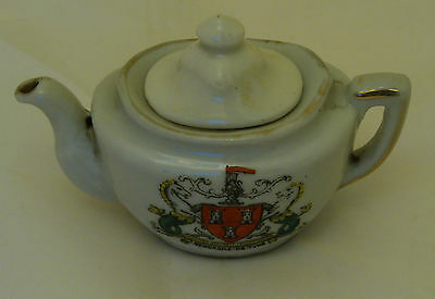 Gemma Crested China Teapot Newcastle-On-Tyne - 8cm Long • 3£