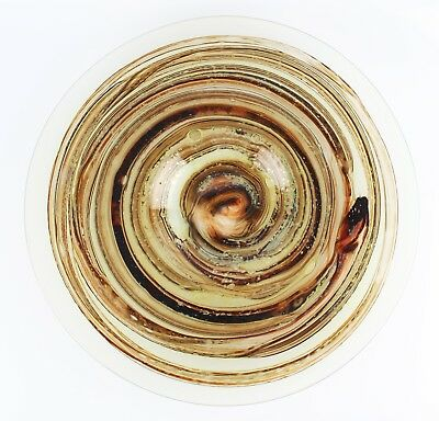 Vintage Large Isle Of Wight Tortoiseshell Michael Harris Signed Circular Charger • 349.99£
