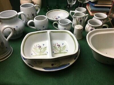 Vintage Job Lot Of Buchan Portobello Stoneware Thistle Design • 99.99£