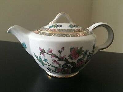 Vintage Maddock, England - Small Indian Tree Tea Pot With Gold Trim • 19.99£