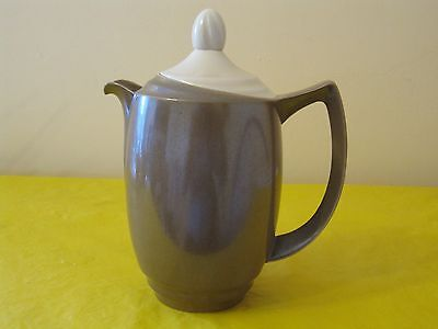 BRANKSOME Brown&Cream COFFEE/HOT WATER POT 1.25Pt Approx, Hardly Used In VGC • 12.50£