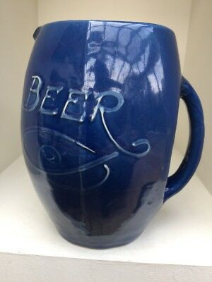 Unusual Antique Brannam Barum Arts & Crafts Pottery Beer Pub Jug • 30£