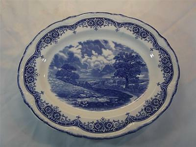 Grindley Blue & White Transfer Printed Platter - Noon  Constable  • 24.99£