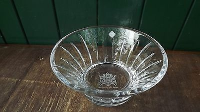 Tyrone Crystal Presentation Bowl From Ulster University Label Attached &fine Cut • 34.99£