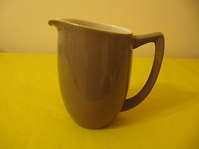 VINTAGE BRANKSOME JUG Tall 4.75  BROWN/CREAM, Used (0.25/135A) • 8.50£