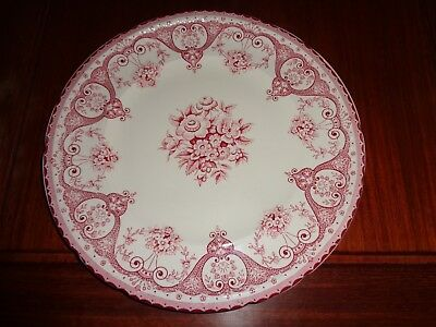Swinnertons Staffordshire England KENT Side Plate Red Pink And White  • 9.99£