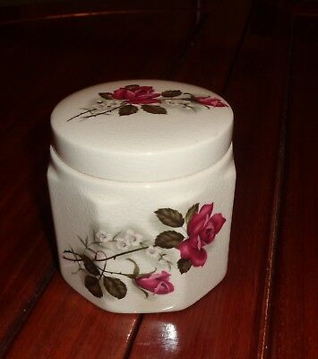 Sandland Ware Hanley England Oxford Marmalade Pot Frank Cooper Ltd RED ROSE • 12.99£