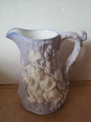 Lilac Glazed Portmerion Parian Ware Jug With Sleeping Children In Woodland  • 9.99£