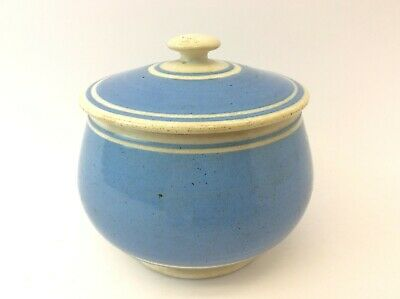 Old Blue White Porcelain Sugar Bowl Container Kitchenware Décor With Lid Kitchen • 65.86£