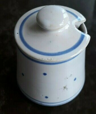 HARD TO FIND Briglin 1960s/70s Delft Style Jam Pot & Lid • 19.99£