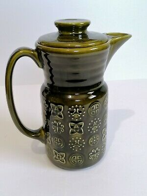Lord Nelson Moss Green Tall Coffee Pot Retro Kitchenalia Pottery  • 13.99£