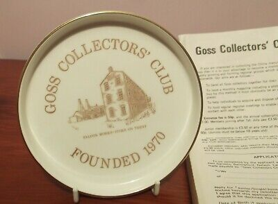 Goss Collectors Club Plate In Box, Approx. 5.5  Diameter. • 13£