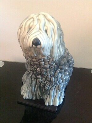 Beswick Vintage/Antique Old English Sheepdog Ornament. Seated Sheepdog Model 453 • 40£