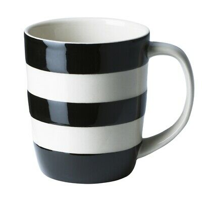 Cornish Black 12oz Mug By T.G.Green Cornishware • 15.50£