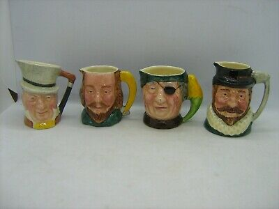 4 Lancaster Sandland Hand Painted Character Jugs Shakespeare Raleigh Pirate Etc • 7.99£