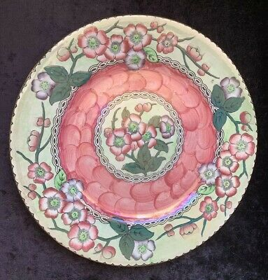 """Art Deco Maling 11"""" """"May Bloom"""" Charger Plate - Pink • 19.95£"""