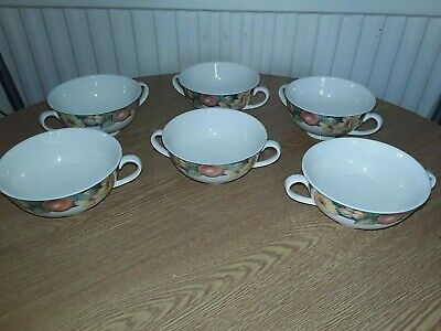 MARKS And SPENCER MILLBROOK 6 X Soup Coupes Ex Condition • 15£