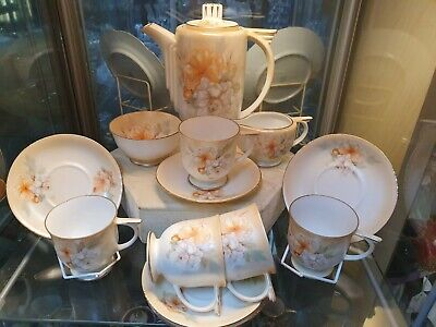 Stunning Art Deco  Noritake? Japanese Coffee Set • 120£