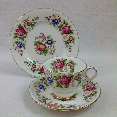 Royal Stafford Rochester Tea Trio Cup Saucer Plate Vintage Excellent • 12£