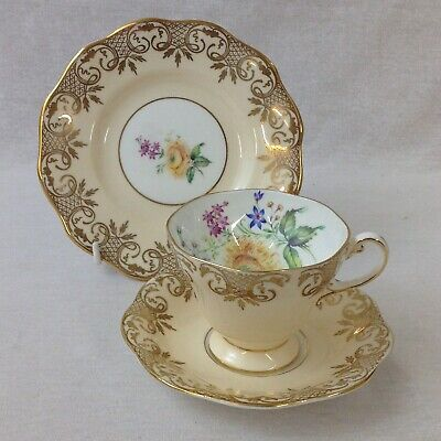 Foley China Tea Trio Pattern 4438 Vintage Cup, Saucer And Tea Plate Excellent • 25£