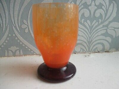 Vintage Daum Nancy France Bubble Glass Cup / Goblet / Beaker • 325£