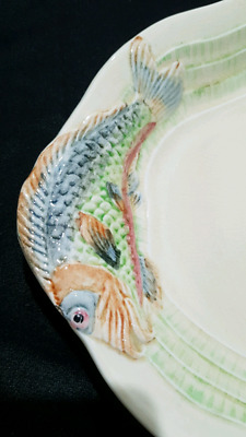 Clarice Cliff Art Deco Platter And Matching Set Of 6 Fish Plates • 447.24£
