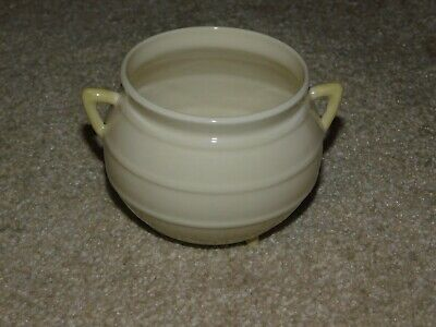 Belleek Cream & Pale Yellow Three Footed China Cauldron Ireland Irish • 24.99£