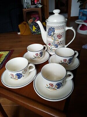 Boots Camargue Two Pint Coffee Pot With 4 Large Cups & Saucers • 15£