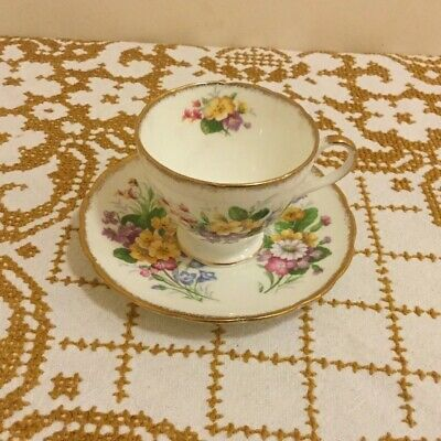 Vintage Foley Bone China Meadowsweet Pattern Tea Cup And Saucer Set • 16.95£