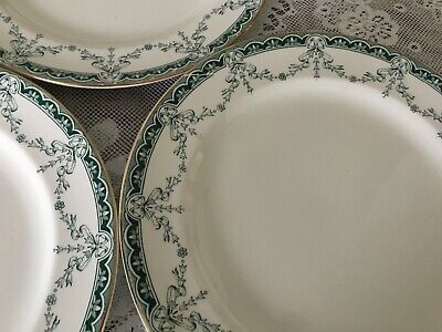 4 Antique Dinner Plates By John Maddock & Sons - Preston Design - 10.5   • 35£