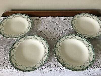 4 Antique Soup Bowls/ Dishes By John Maddock & Sons - Preston Design - 10  Wide • 30£