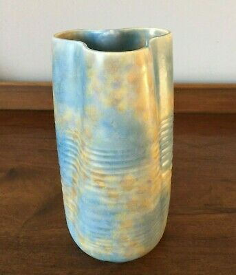 Art Deco Blue And Beige Beswick Vase - 7.5  Tall • 35£