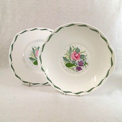 Two Susie Cooper Fragrance Pattern Serving Plates • 22£