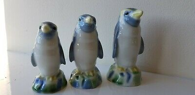 Wade Penguin Whiskey Decanters X 3 • 19£