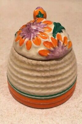 Clarice Cliff Marguerite Small Beehive Preserve Pot • 135£