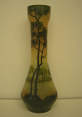 French Art Glass Vase In The Style Of Legras • 60£