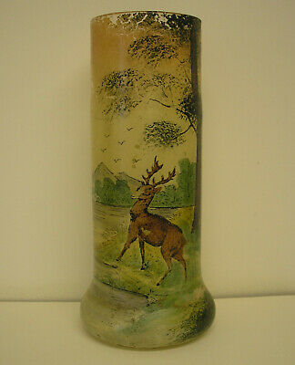 French Art Glass Vase In The Style Of Legras • 25£