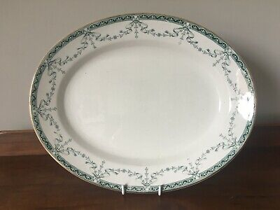 Antique Large Oval Serving Plate By John Maddock & Sons - Preston Design • 20£