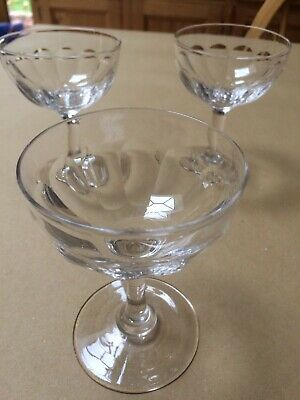 Vintage Crystal Val St Lambert Champagne / Sorbet Glasses - 4 Available • 17£