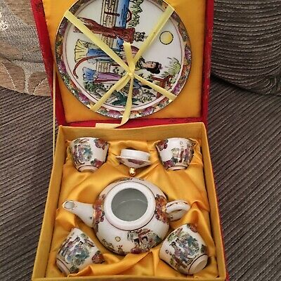 Childs Oriental Tea Set. Boxed. GD Arts And Crafts. Never Used.  • 10.65£