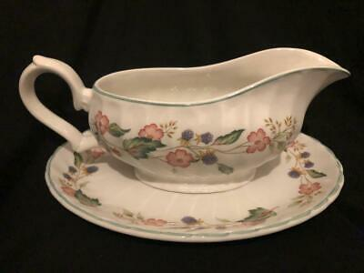 Bhs Victorian Rose Gravy / Sauce Boat + Stand • 9.99£