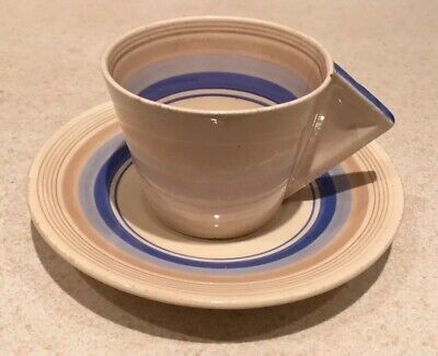 Clarice Cliff Conical Banded Cup And Saucer • 75£