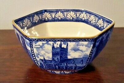 Ringtons Cathedral And Castles Hexagonal Bowl, Blue/white • 9.99£