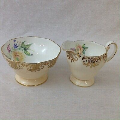 Foley China Milk And Sugar Bowl Pattern 4438 Vintage Excellent • 35£