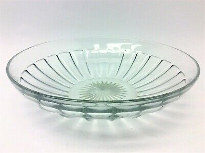 Vintage Used Large Heisey Clear Glass Serving Bowl Ribbed Decorative 9.875  • 34.77£