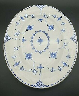 Vintage Furnivals Limited England  Denmark  Pottery Blue & White Charger / Plate • 49.99£