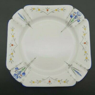 Art Deco Shelley England Flower Design Plate • 29.99£