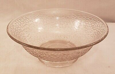 Vintage Clear Crackle Glass Bowl - 7  Diameter - Excellent Condition • 9.02£