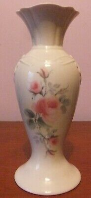 Donegal Parian Mystical Rose Embossed Vase, Approx. 9  Tall. • 12£